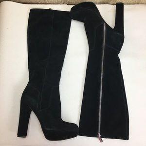 Michael Michael Kors Black Suede Boots Sz:7M